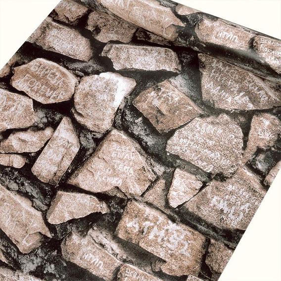 Papel Adesivo Contact Pedra Natye 45cm X 10mt X-ink Pedras
