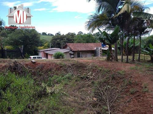 Imagem 1 de 23 de Ótima Chácara Com 3 Dormitórios, Córrego, Pomar, Excelente Localização, À Venda, 3000 M² Por R$ 215.000 - Zona Rural - Pinhalzinho/sp - Ch0848