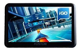 Gps Foston Tela 7 Tv Digital E Câmera De Ré Alerta Radar