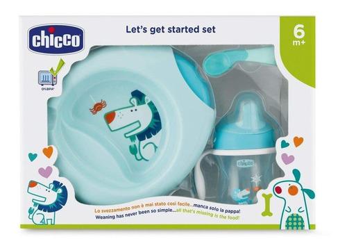 Imagen 1 de 5 de Chicco Set De Alimentación Primeras Comidas 6m+, Color Azul