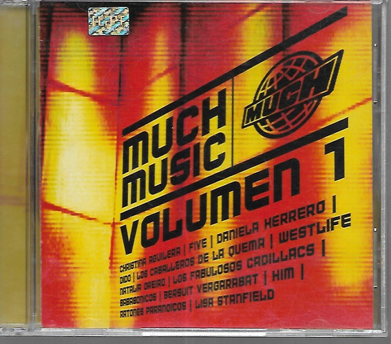 Much Music Vol.1 Natalia Oreiro Cadillacs C.aguilera Five Cd