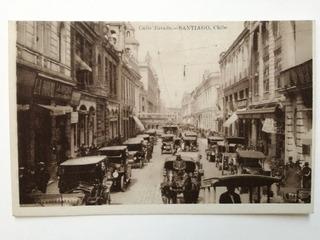 Calle Estado, Santiago, Tarjeta Postal, Buen Estado.
