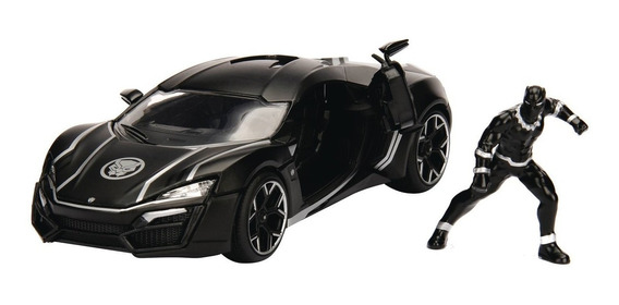 Auto Pantera Negra Metals Hollywood Rides Lykan Hypersport
