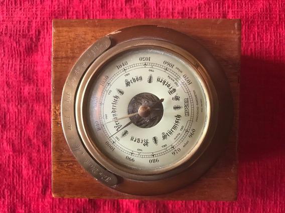Antiguo Barómetro De Precisión Náutico Alemán