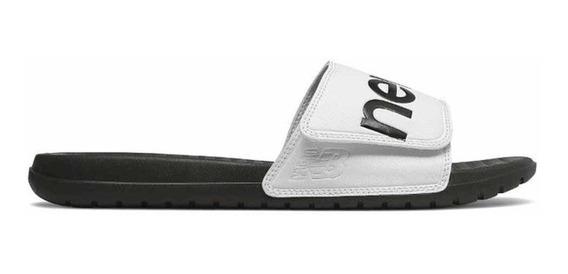 Chinelas New Balance Sdl230 Blanco/negro - Corner Deportes