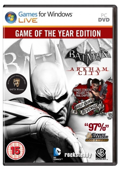 Batman Arkham City Goty Pc Frete Gratis Envio No Mesmo Dia!
