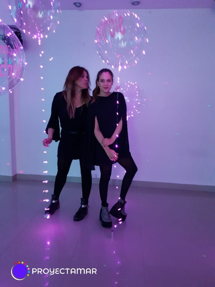 15 Burbujas Gigantes 60cm Con Luz Rosa 5mt Y Personalizado