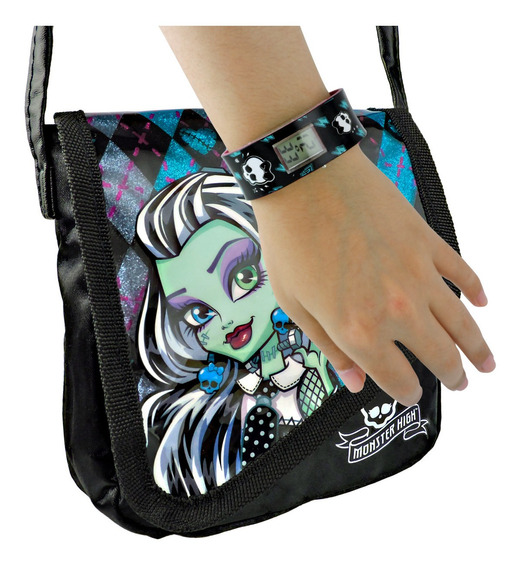 Relógio De Pulso Digital Monster High Mais Bolsa Frankie