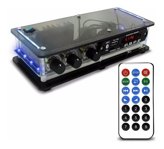 Amplificador Potência Usb Bluetooth Caixa Som, Pc Notebook