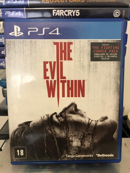 Jogo Ps4 The Evil Within Mídia Física Completo Original !!