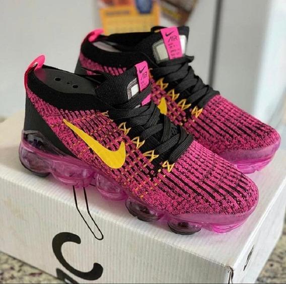 Tenis Nike Vapormax 3.0 Fucsia/amarelo/preto Nº37 Original!!