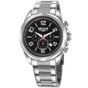 Relógio Seculus Masculino 28958g0svna2 Cronógrafo Prateado