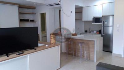 Apartamento Com 1 Dormitório Para Alugar, 57 M² Por R$ 3.000/mês - Gonzaga - Santos/sp - Ap1419
