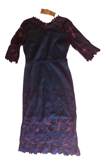 Vestido Azul Marino La Reyna Talla S