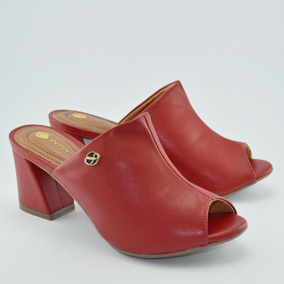 Sapato Tamanco Salto Medio Grosso Infinity