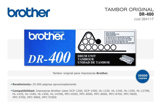 1PK DR400 DR-400 Black Drum Unit For Brother HL-1470N DCP-1200 DCP-1400 Printer
