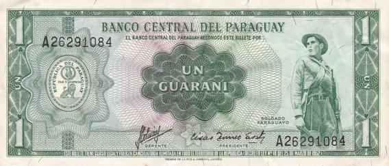 Paraguay 1952 Billete De 1 Guarani Pick 193b Usado