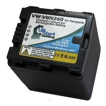Bateria De Filmadora Vw-vbn260 3200mah Panasonic Li-ion