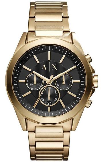 Relógio Unissex Armani Exchange Dourado - Original