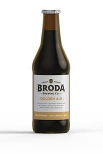 Cerveza Artesanal Broda Golden Ale 500 Cc Caja X 12u.