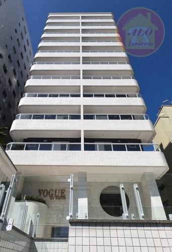 Apartamento Com 2 Dormitórios À Venda, 68 M² Por R$ 360.000,00 - Canto Do Forte - Praia Grande/sp - Ap4189