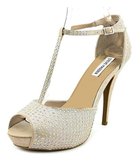 Zapatos Tacon Steve Madden Maggie Gold Dorado Moda Fiesta