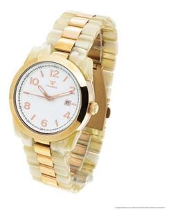 Reloj Kosiuko 7404 - Acetato Y Acero Sumergible Wr50 Fecha