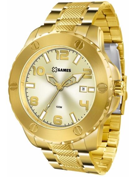 Relógio X-games Masculino Xmgs1026 C2kx Dourado Aço Oferta