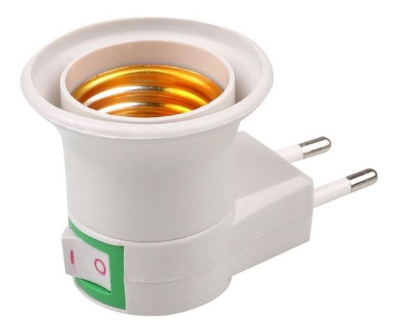 20 Soquete Adaptador Lâmpada E27 Botão Chav Liga Desliga Luz