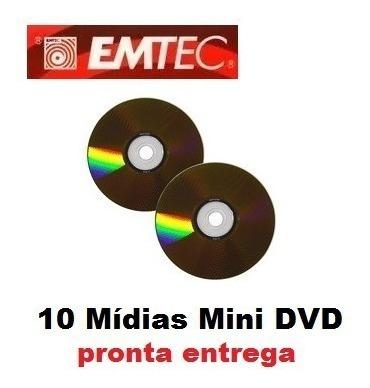Mídia Mini Dvd-r 4x Emtec 1.4gb Para Filmadora - 10 Unidades