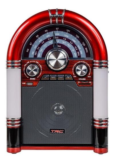 Caixa De Som Trc 210 Retrô 35w Rms Bluetooth Mini Jukebox
