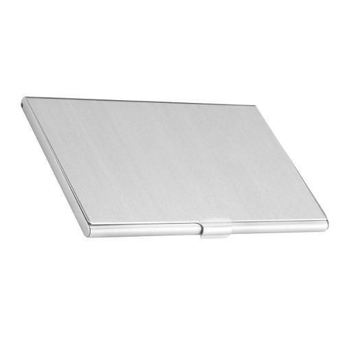 Tarjetero O Porta Tarjetas De Aluminio Slim Plata Vek