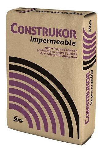 Imagen 1 de 6 de Pegamento Impermeable Para Ceramica Construkor 30kg Klaukol