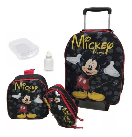 Mochilas Escolares Infantil Mickey Com Rodinhas Meninos