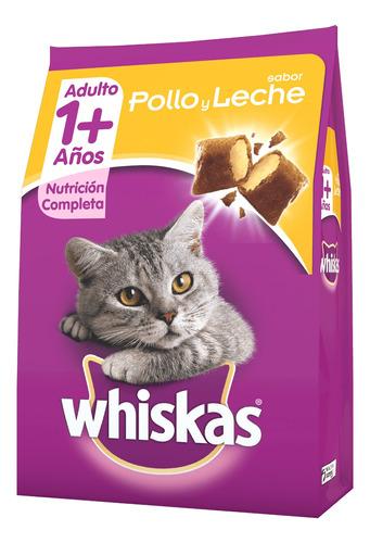 Imagen 1 de 1 de Alimento Whiskas 1+ para gato adulto sabor pollo/leche en bolsa de 10kg