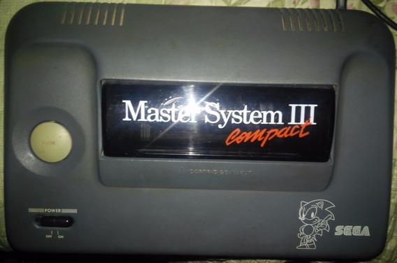 Master System 3 Só Console - Com Defeito - Sonic Na Memória