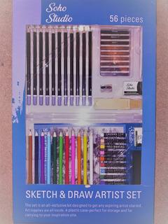Soho Studio Sketch & Draw Set De Dibujo Y Arte 56 Piezas