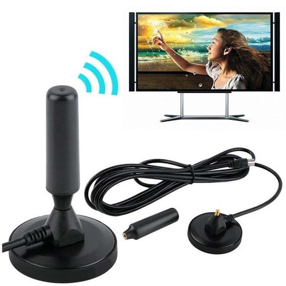 Antena Hd De Tv Digital Rt-3003 Interno Externo 5m Cabo