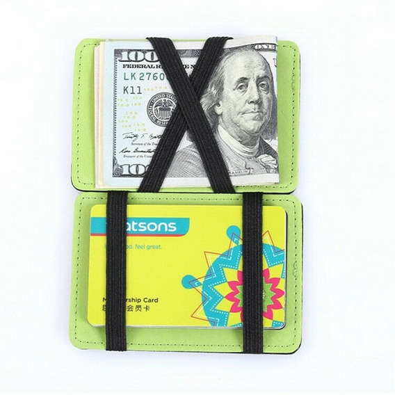 Cartera Para Hombre Magica Con Tarjetero Magic Money Clip