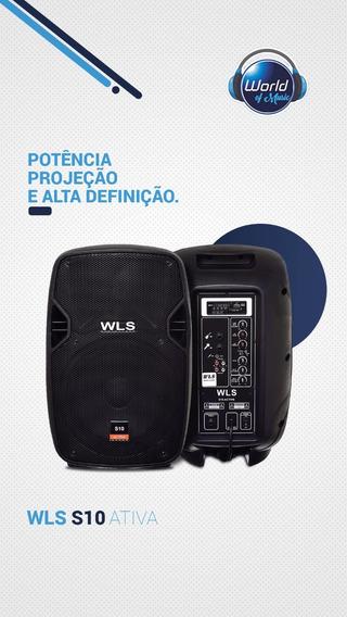 Caixa Acústica Ativa Wls S10 Oferta World Of Music
