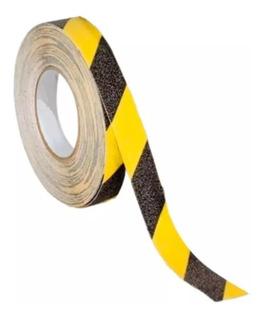 Cinta Antideslizante Rayada Amarilla Negro Geko 25mm X 5 Mts