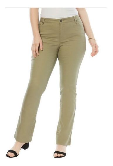 Pantalon Dama Extra 24w 26w 28w 32w Petite Stretch 2 Tonos