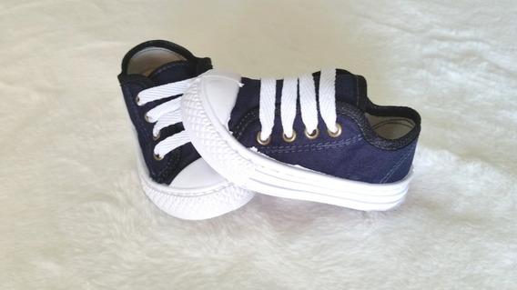 Tênis Infantil Tipo All Star Azul Jeans Masculino/feminino