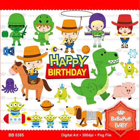 Kit Imprimible Toy Story 8 Imagenes Clipart