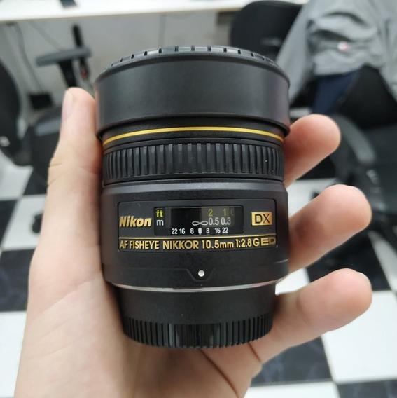 Lente Nikon 10.5mm F/2.8g Ed Dx Fisheye Usada Garantia Loja