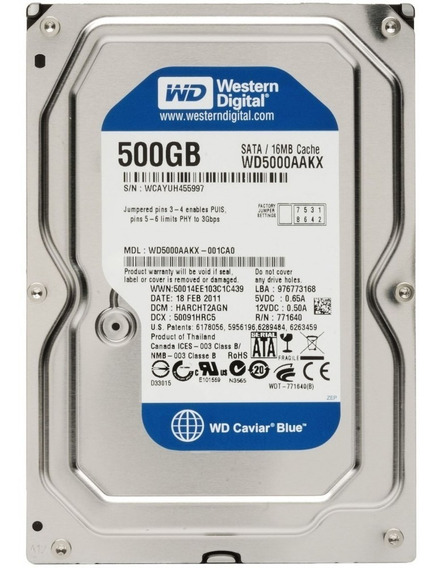 Hd 500gb Sata 2 Desktop 7200 Rpm Western Digital