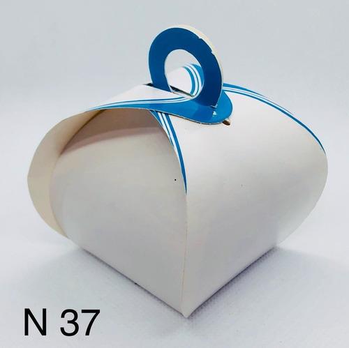 Imagem 1 de 11 de 120 Caixinhas De Bem Casado Lembrancinha Francesinha Azul