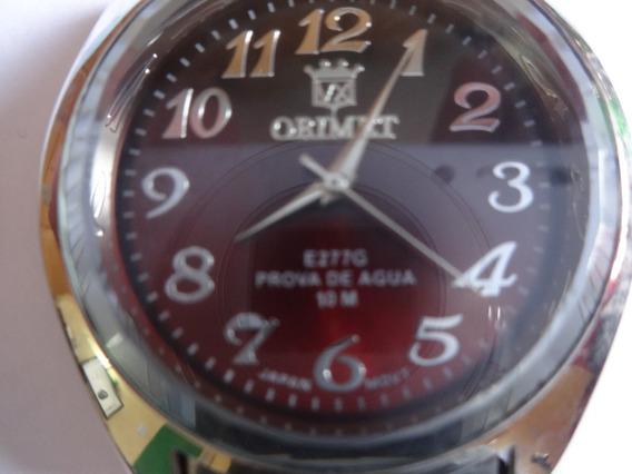 Relógio De Pulso Aço Inox Prateado Orimet