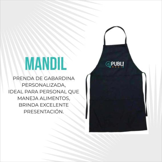 Mandil Gabardina Negro