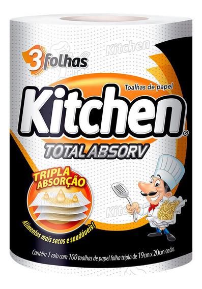 Papel Toalha Folha Tripla Kitchen 100 Folhas